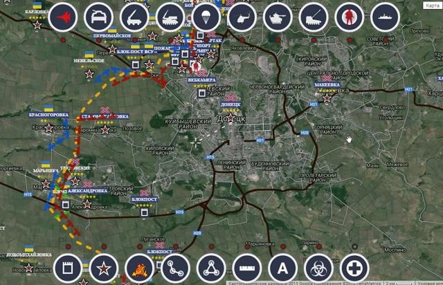 Обзор карты боевых действий в