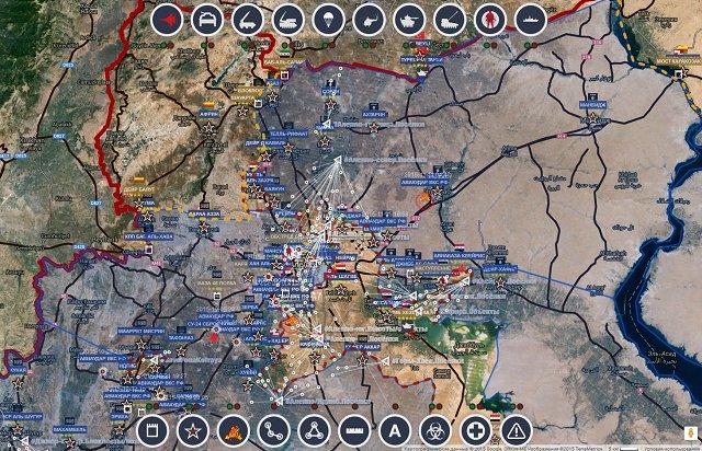 Обзор карты боевых действий в Сирии 11 ноября 2015 года