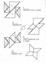 Из бумаги нож схема – оружие ниндзя, оригами, трансформер, схема, звездочки, метательное, 4-конечный, фото, видео